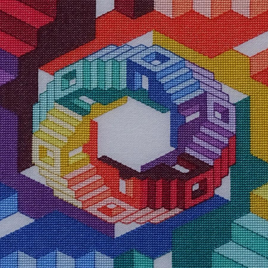 44B Borduurpatroon Kruissteken Embroidery pattern Cross-stitches Dimensions B