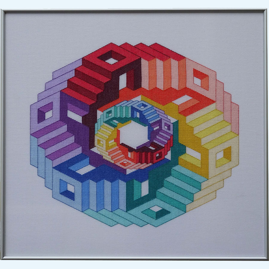 44C Borduurpatroon Kruissteken Embroidery pattern Cross-stitches Dimensions B