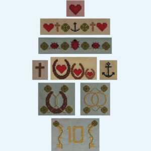 Borduurpatroon Kruissteken Embroidery pattern Cross-stitches Geluk C