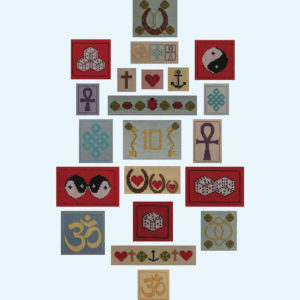 Borduurpatroon Kruissteken Embroidery pattern Cross-stitches Geluk A,B,C