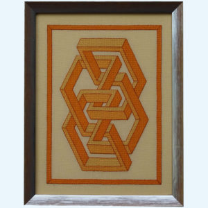 Borduurpatroon Kruissteken Embroidery pattern Cross-stitches Vincent F