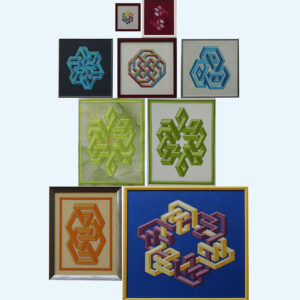 Borduurpatroon Kruissteken Embroidery pattern Cross-stitches Vincent A,B,C,D,E,F,G