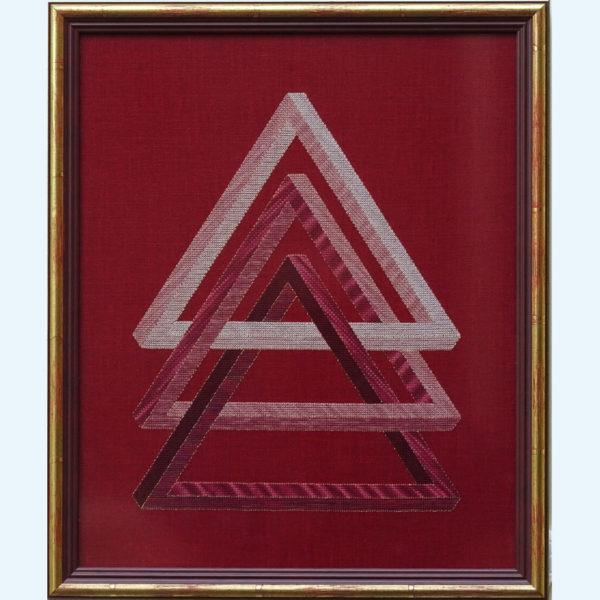 Borduurpatroon Kruissteken Embroidery pattern Cross-stitches Triangel A