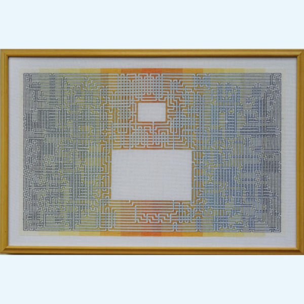 5C Borduurpatroon Kruissteken Embroidery pattern Cross-stitches Labyrint