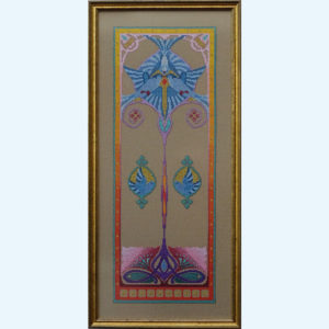 Borduurpatroon Kruissteken Embroidery pattern Cross-stitches Iris C