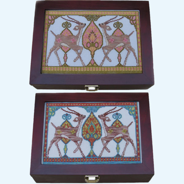 Borduurpatroon Kruissteken Embroidery pattern Cross-stitches Gazellen