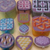 83B Borduurpatroon Kruissteken Embroidery pattern Cross-stitches Geometric boxes