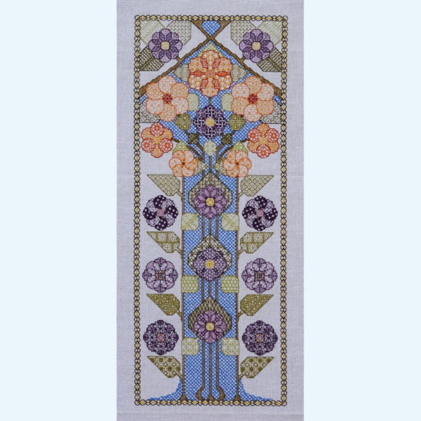 Borduurpatroon Kruissteken Embroidery pattern Cross-stitches Bloesem A