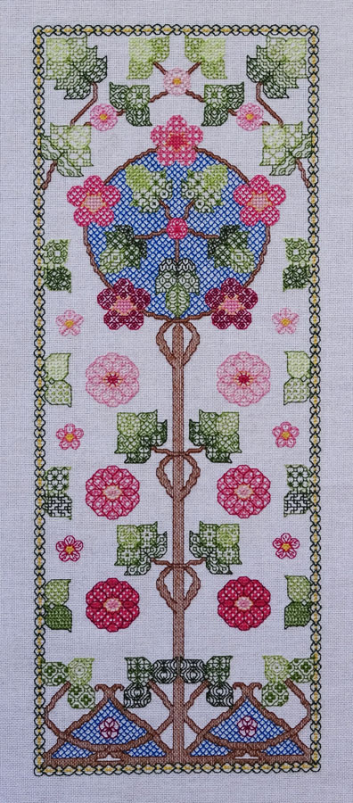 92A Borduurpatroon Kruissteken Embroidery pattern Cross-stitches Bloesem B
