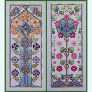 orduurpatroon Kruissteken Embroidery pattern Cross-stitches Bloesem A en B