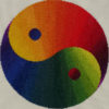 94B Borduurpatroon Kruissteken Embroidery pattern Cross-stitches Yin Yang variation A