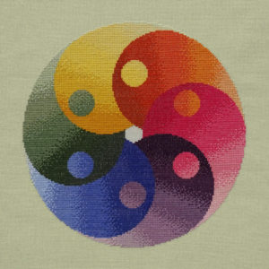 95A Borduurpatroon Kruissteken Embroidery pattern Cross-stitches Yin Yang variatie B