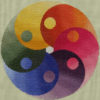 95B Borduurpatroon Kruissteken Embroidery pattern Cross-stitches Yin Yang variation B
