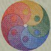 97B Borduurpatroon Kruissteken Embroidery pattern Cross-stitches Yin Yang variation D