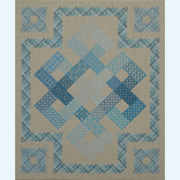 Borduurpatroon Kruissteken Embroidery pattern Cross-stitches Black-work Metamorfose