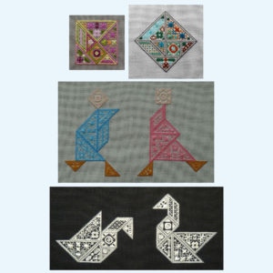 Borduurpatroon Kruissteken Embroidery pattern Cross-stitches Speciale steken Special stitches