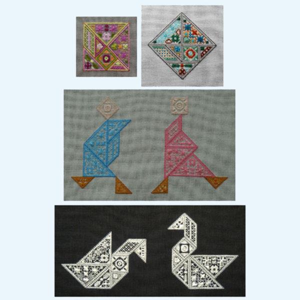 Borduurpatroon Kruissteken Embroidery pattern Cross-stitches Speciale steken Special stitches