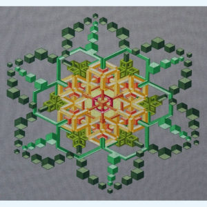 Borduupatroon Kruissteken Embroidery pattern Cross-stitches van Gogh