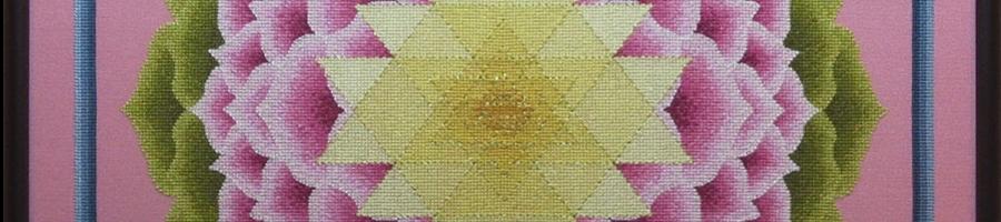 25A Borduurpatroon Kruissteken Embroidery pattern Cross-stitches Shri-Yantra