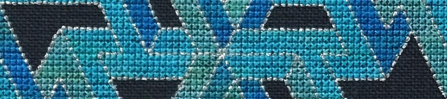 50B Borduurpatroon Kruissteken Embroidery pattern Cross-stitches Vincent A