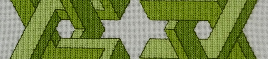 52B Borduurpatroon Kruissteken Embroidery pattern Cross-stitches Vincent C