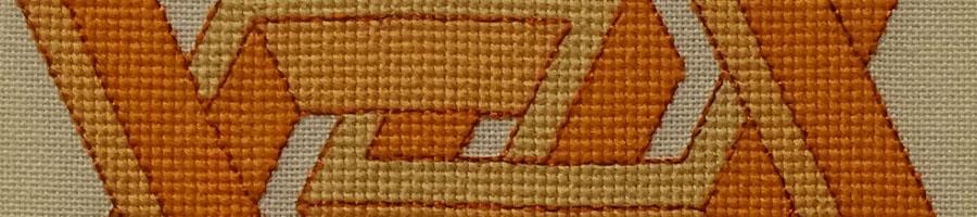 55B Borduurpatroon Kruissteken Embroidery pattern Cross-stitches Vincent F