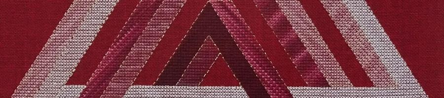 58B Borduurpatroon Kruissteken Embroidery pattern Cross-stitches Triangle A