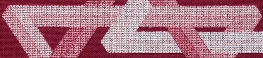 60B Borduurpatroon Kruissteken Embroidery pattern Cross-stitches Triangle C