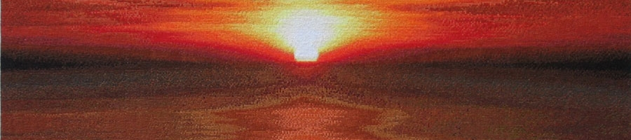 87C Borduurpatroon Kruissteken Embroidery pattern Cross-stitches Zonsondergang
