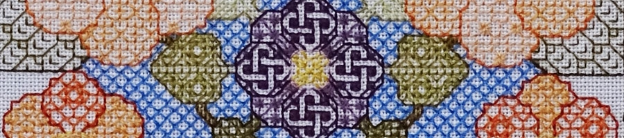 91B Borduurpatroon Kruissteken Embroidery pattern Cross-stitches Blossom A